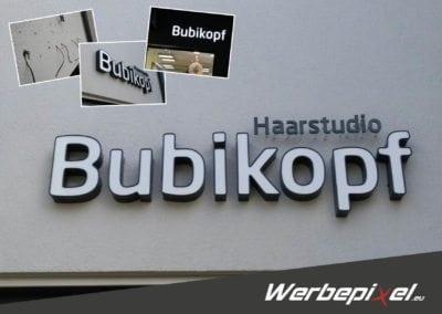 LED-Profilbuchstabenanlage Bubikopf